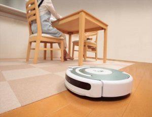 バリアフリーマットは薄いからロボット掃除機がスイスイ動ける