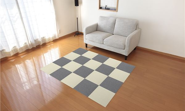 ソファ前に敷くマット敷き方デザインパターン1